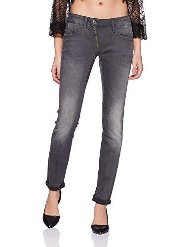G-STAR RAW Damen Lynn Zip Mid Waist Skinny Jeans, Grau (medium Aged 6132-071), 31W / 34L
