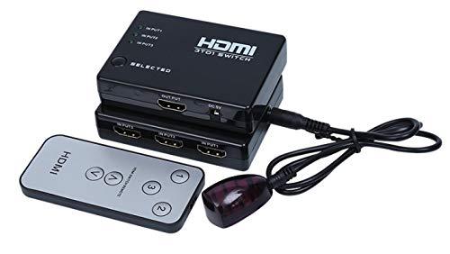 lizeyu Interruptor hdmi 3 en 1 Salida Interruptor convertidor 3D 3 en 1 Salida 3 Corte 1