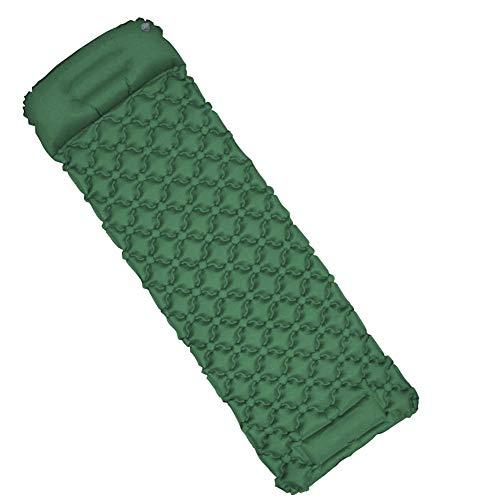 ENG - Colchón hinchable para exterior, autohinchable, de poliuretano termoplástico, impermeable, ligero, para camping, senderismo, playa, tienda de campaña, césped, viaje, B2-Green