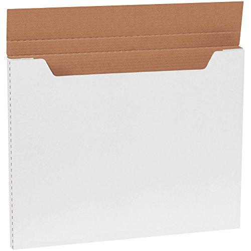 Aviditi M20161 Jumbo Fold-Over Mailer, 20' Length x 16' Width x 1' Height, White (Bundle of 20)