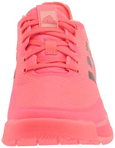 adidas Women's Tokyo Crazyflight Cross Trainer, Pink/Black/Pink, 8 Idaho