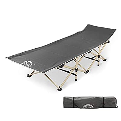 Camping Cot, 450LBS(Max Load), Portable Foldable Outdoor Bed with Carry Bag for Adults Kids, Heavy Duty Cot for Traveling Gear Supplier, Office Nap, Beach Vocation and Home Lounging