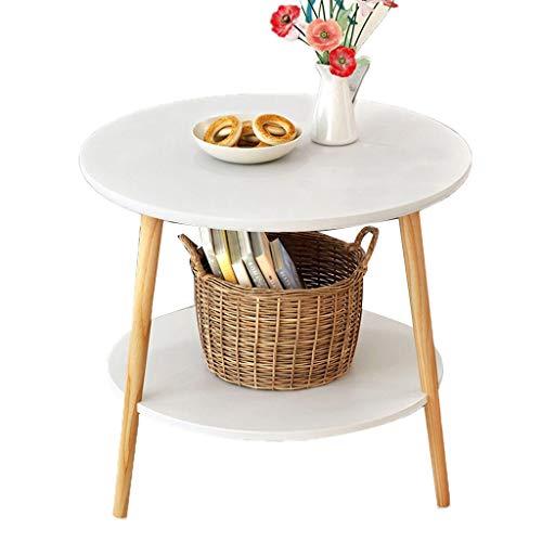 LILISHANGPU Table d'appoint Table de Chevet Canapé Table de Chevet Canapé Table de Chevet Petite Table Ronde (Color : White)