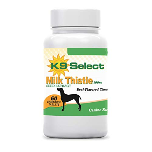 K9 Select Milk Thistle for Dogs Beef Chewable Tablet