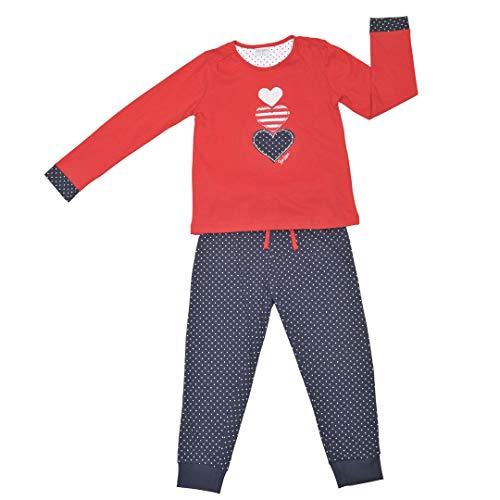 YATSI - Pijama NIÑA TOBOGAN Niñas Color: Rojo Talla: 12