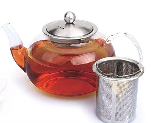 Teekanne Symphony 0,8L Glas / Edelstahl mit Teefilter