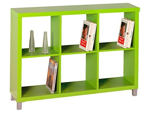 "Kit Closet Estantería ""Kubox"" 6 huecos verde"