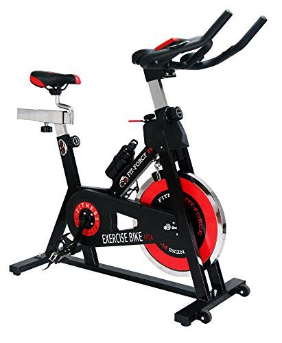 Fit-Force Bici Spinning Volante de Inercia de 24Kg