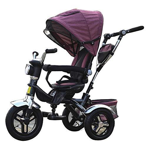 YumEIGE driewieler kinderzitje kan 1-6 jaar oud verjaardag kindergeschenk kleine kinderen kinderwagen trike belasting gewicht 100 kg
