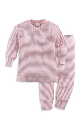 hessnatur Baby Mädchen und Jungen Unisex Schlafanzug aus Reiner Bio-Baumwolle Malve 98/104