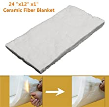 Aluminium Silicate High-Temperature Insulation Ceramic Fiber Blanket, 24X12X1 Inch