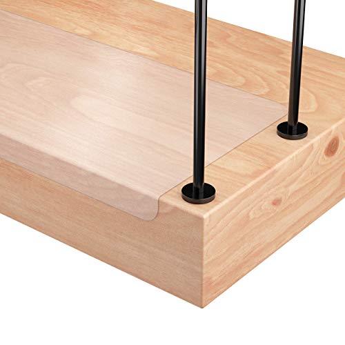 15 x Sossai® Stufenmatte STAIR PROTECT | 25 x 65 cm | transparent und selbstklebend | Treppenschutz (Easy Clean) für Treppen/Stufen