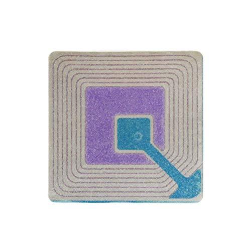 PrimeMatik - Bobina de etiqueta adhesiva compatible con antihurto antirrobo EAS 8.2MHz 40x40mm blanca 1000 unidades