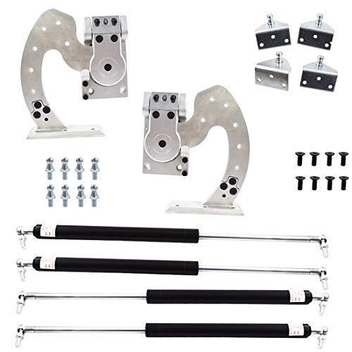 WFLNHB Universal Kit Bolt On Vertical Doors Hinge Kit for Audi Dodge Ford Honda Toyota Nissan Chevrolet etc. 90 Degree Vertical Lambo Door Conversion Kit