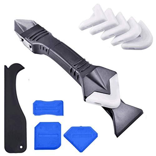 Herramienta de sellado de silicona 3 en 1, raspador de juntas para la herramienta de acabado de sellado, gran herramienta para la ventana del baño en la cocina, conexión de fregadero.