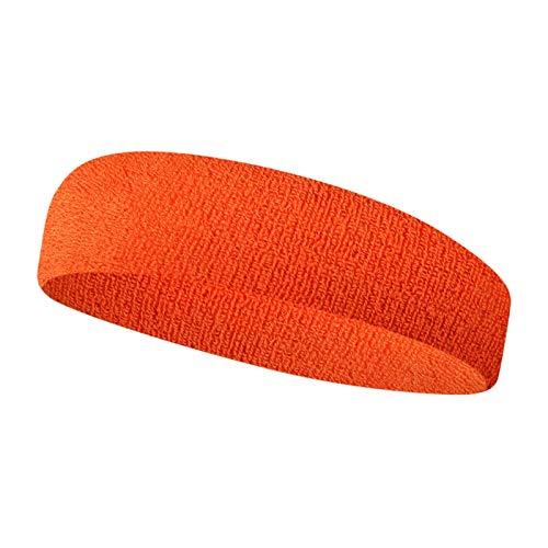 WZNING Bandeaux Hommes et Les Femmes Sweat-absorbants Sport Bandeau Bandeau Sport Bandeau Bandeau Cheveux Red Band (Color : Orange)