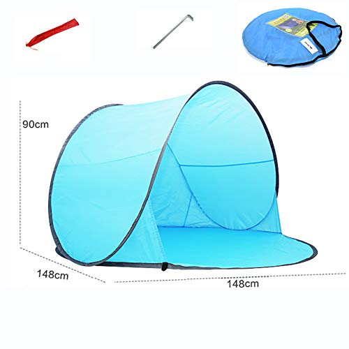 Homedecor Baby Beach Tent, Easy Pop Up Beach Tent Windproof Waterproof Family Beach Shade Baby Canopy for 2 Person Outdoor Activities Traveling