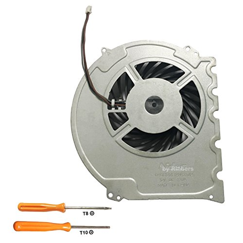 Rinbers Internal CPU GPU Cooling Cooler Fan Replacement Part for Sony Playstation 4 PS4 Slim Console CUH-2015A CUH-2016A CUH-2017A CUH-20XX 500GB with Tool Kit