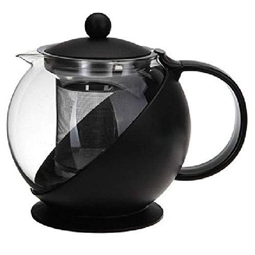 Multifunctionele glazen theepot met infuus, transparant borosilicaatglas Theeblik, geschikt voor losse thee - gemakkelijk te scheiden theesoep