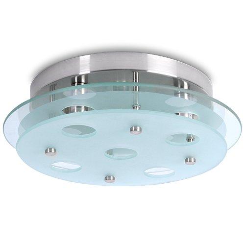 LED Lampada da Soffitto - CEE: A++ a E, Ø32cm, 5xG9, Rotonda, Dimmerabile, IP20, Moderna - Riflettore a Parete, Luce di Vetro - Per Bagno, Cucina, Camera, Corridoio, Balcone, Soggiorno