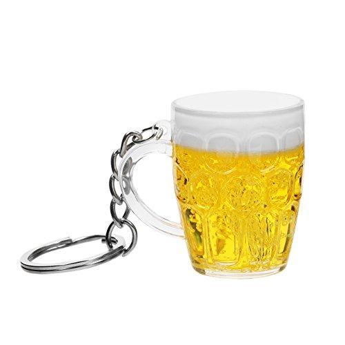 NOPNOG Llavero de Coche con diseño de Taza de Cerveza