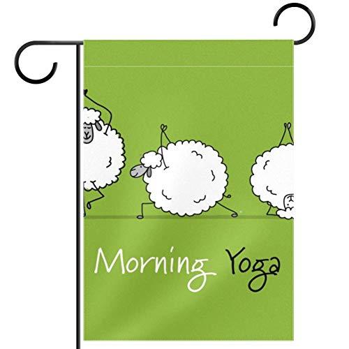 TIZORAX - Banderines para yoga, diseño de ovejas y jardín, impermeable, 12 x 18 pulgadas, tela, multicolor, 28x40in