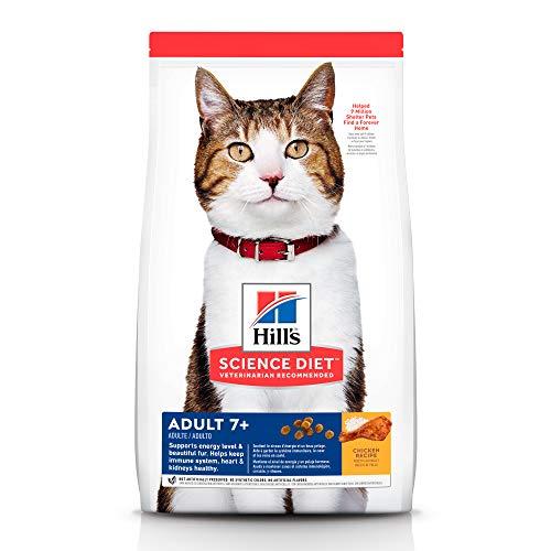 Hill's Science Diet, Alimento para Gato Adulto 7+ años Receta Original, Seco (bulto) 1.8kg