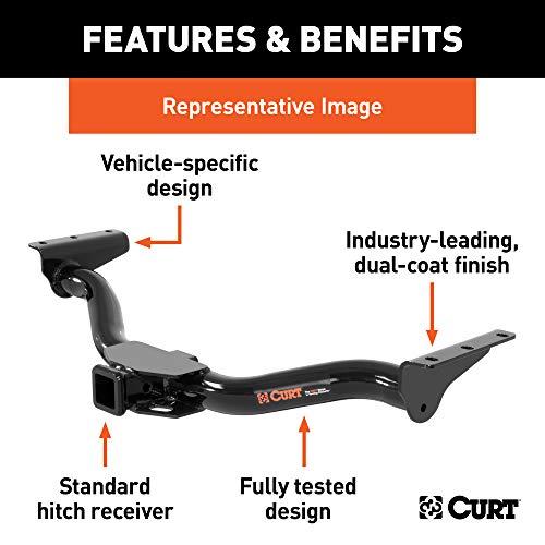 CURT 13505 Class 3 Trailer Hitch, 2-Inch Receiver for Select Hyundai Santa Fe