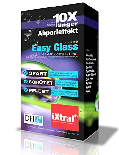 iXtral Duschwand Lotuseffekt Nanoversiegelung für Glas Fliesen Porzellan gegen Kalk & Schmutz mit Abperleffekt (Easy-to-Clean, US-Patent)