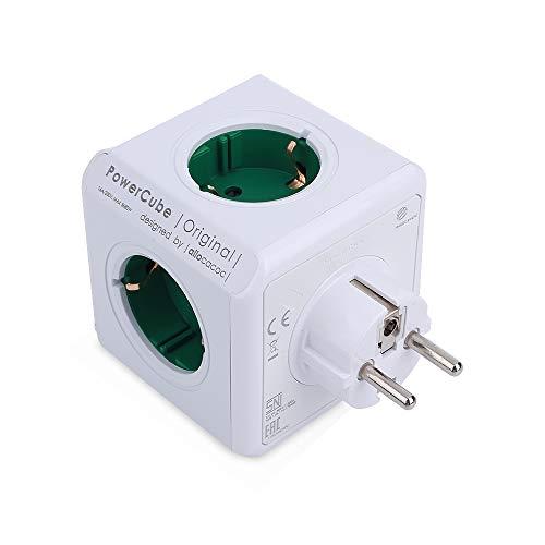 ZENING Power Cube, Steckdosenwürfel, Power Würfel mit 4 Steckdosen, Travel-Cube, Kabelgebundenes Schaltsteckdosenadapter für Smart Home, mit Kabel, EU