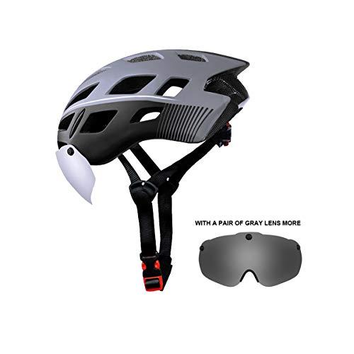 X-TIGER fietshelm met afneembare magnetische bril vizier Shield BMX Mountain Road Fiets MTB Helmen Verstelbare Fietshelmen voor volwassenen mannen & vrouwen Outdoor Sport CE gecertificeerd