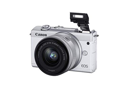 Canon EOS M200 EF-M 15-45mm is STM Kit (White) (Renewed)