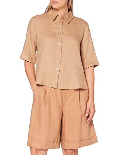 United Colors of Benetton Damen Camicia Hemd, Tannin 193, L