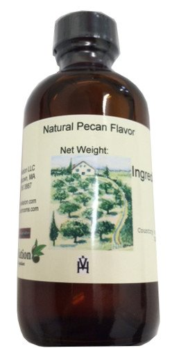 OliveNation Pecan Flavor - 4 ounces - Gluten-free, Sugar-free - Premium Quality Flavoring Extract For Baking