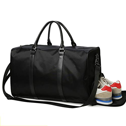 YMXLJJ Large Capacity Luggage Bag,Independent Shoe Position,Waterproof Travel Bag,Foldable Weekender Bag,Men's Sports Gym Bag,L