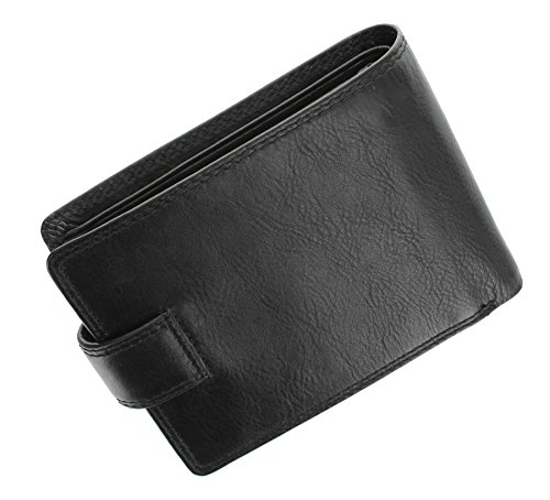 Visconti Heritage Collection Knightsbridge Leather Wallet with Tab Closure RFID Blocking HT10 Black