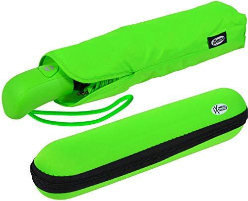 iX-brella First Class – Regenschirm mit Etui - stabil groß sturmfest - grün