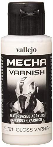 Vallejo Mecha Color - Colore Acrilico a Base d'Acqua per Aerografo, 60 ml, Trasparente (Gloss Varnish)
