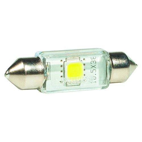 Philips 128584000KX1 Festoon - Bombilla LED C5W decorativa de interior, color blanco