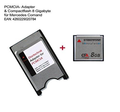 STElectronic PCMCIA Adapter mit CompactFlash Speicherkarte 8GB für Mercedes Bediensystem COMAND APS* PCMCIA-Adapter APS Code 527 513 - inklusive CF Speicherkarte 8 Gigabyte - 8 GB