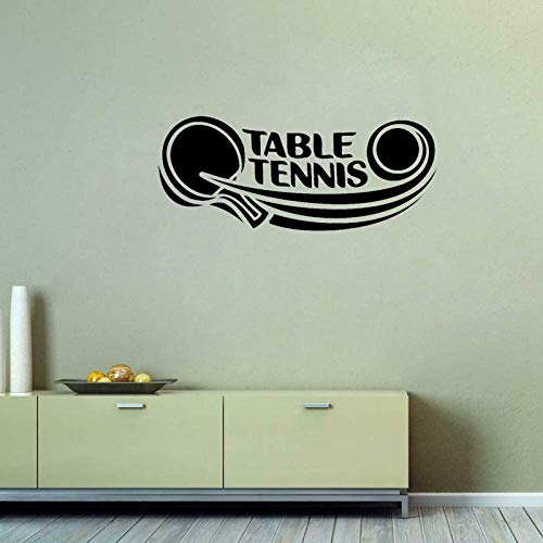 Decoración Chica 62 Cm * 25,5 Cm Tenis De Mesa Calcomanía Ping Pong Deporte Pvc Etiqueta De La Pared Para Sala De Estar