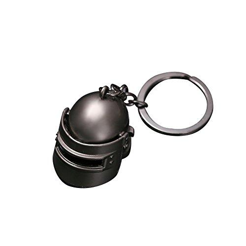 wsloftyGYd Playerunknowns Battlegrounds PUBG Helmet Pan Model Keychain Key Ring Pendant Helmet
