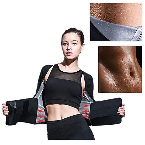 Fine Women Hot Sweat Body Shaper, Tank Top Tummy Fat Burner Slimming Body Shaper Sauna Vest (Black, M)