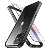 SUPCASE Unicorn Beetle Edge Series Case Designed for iPhone 12 / iPhone 12 Pro (2020 Release) 6.1 Inch, Slim Metal Frame Case with TPU Inner Bumper & Transparen (Black)