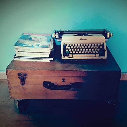 Typewriter - veredelter Kunstdruck auf Holz - Wandbild 25x25cm - kleines cooles Bild mit großer Wirkung