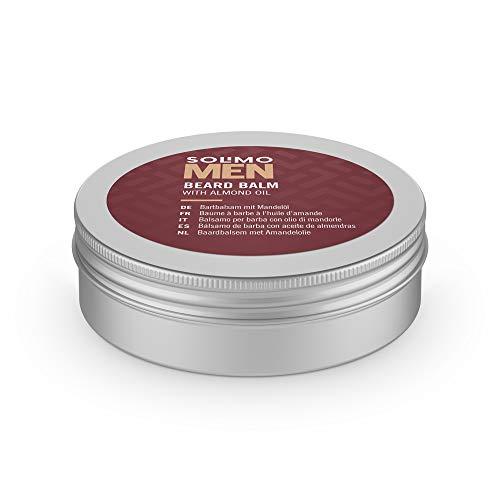 Marca Amazon - Solimo Bálsamo para barba con aceite de almendras para hombre, 60ml