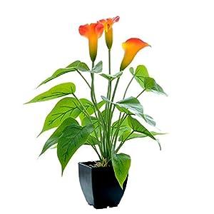Artificial Flowers Fake Plant Pot Calla Lily Anthurium Bonsai Simulation Artificial Potted Plant Ornament Home Decoration
