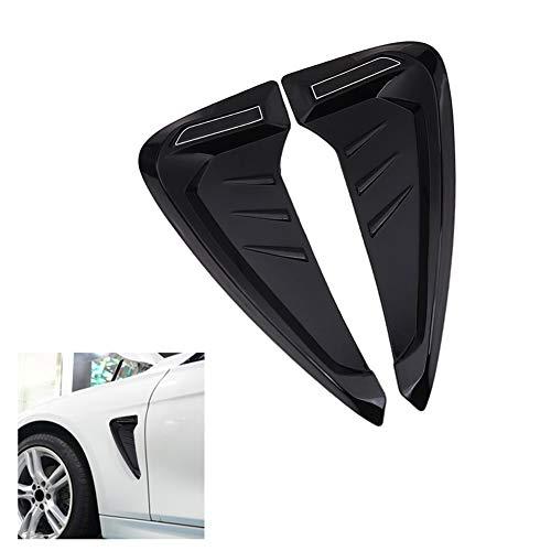 MoreChioce - Cubierta universal para salida de aire para capó, cubierta de salida de aire para carenado ABS para capó de repuesto para entrada de aire, color negro