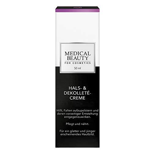 MEDICAL BEAUTY® Hals- & Dekolleté-Creme | Glättet und strafft | Hilft, Falten aufzupolstern | Inhalt: 50 ml