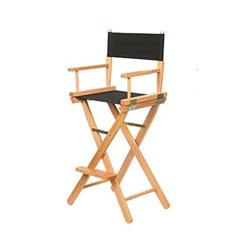 Chaises pliantes Xiaolin en Bois Solide Chaise de Chaise Haute Chaise Chaise de Bar en Plein air Portable (Couleur : Noir)